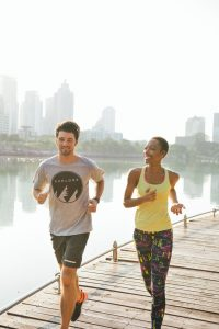 Healthy People Jogging